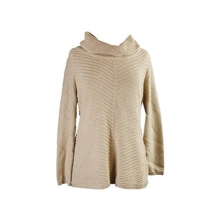 Style & Co. Gold Metallic Cowl-Neck Pullover L