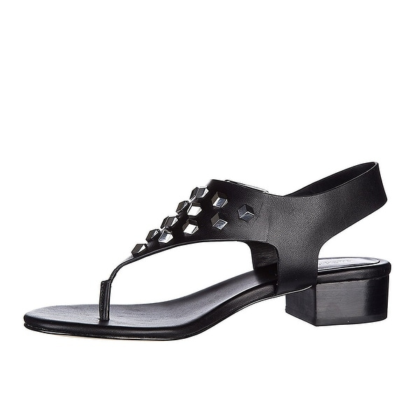 MICHAEL Michael Kors Womens Valencia Thong Leather Open Toe Casual Ankle Stra...