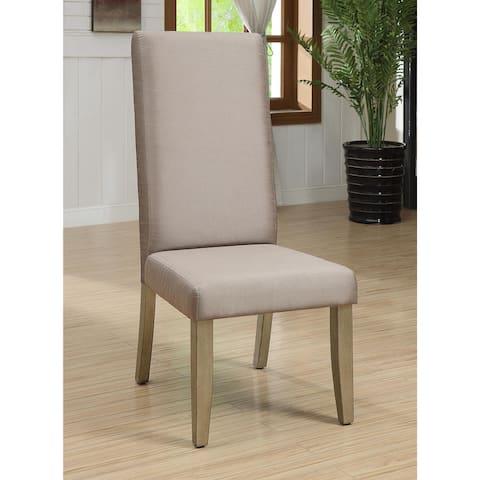 Furniture of America Suva Modern Gold Fabric Master Chairs Set of 2