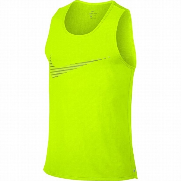 bb3e5f7e Shop Nike NEW Neon Yellow Mens Size 2XL Dri-Fit Contour Running Tank ...
