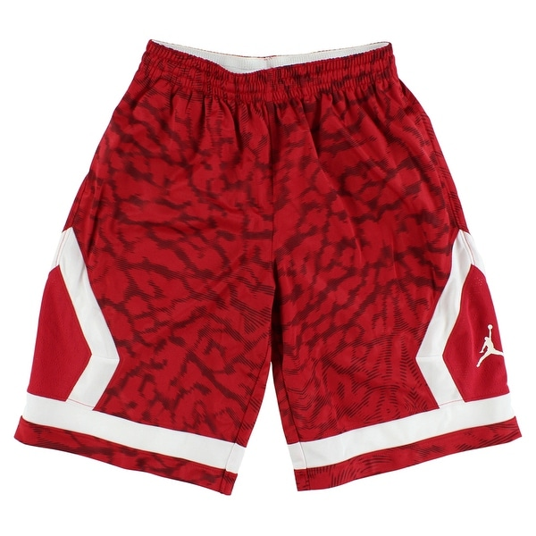 db2a2185b7f405 Shop Jordan Boys Flight Diamond Knit All Over Print Shorts Red - red white  - Free Shipping On Orders Over  45 - Overstock - 22694142