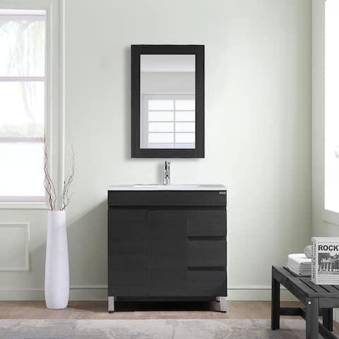 Modern Single Sink Bathroom Vanity Set