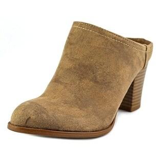 Fergalicious Womens Colleen Closed Toe Mules, Saddle, Size 7.5