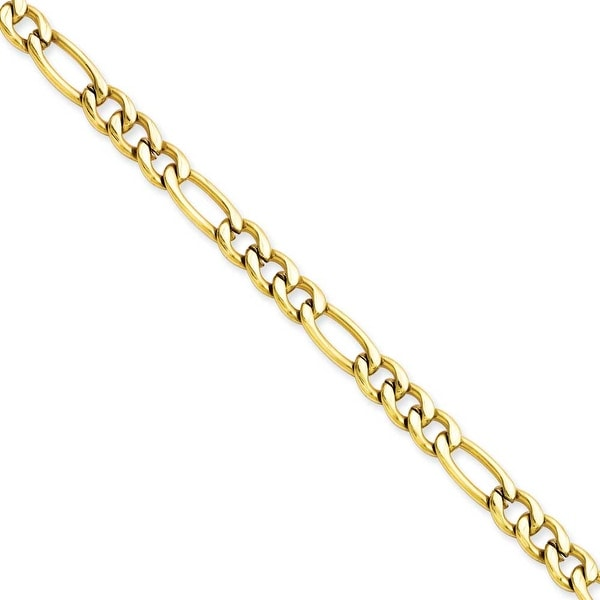 Stainless Steel IP Gold-plated 6.30mm 20in Figaro Chain (6.3 mm) - 20 in