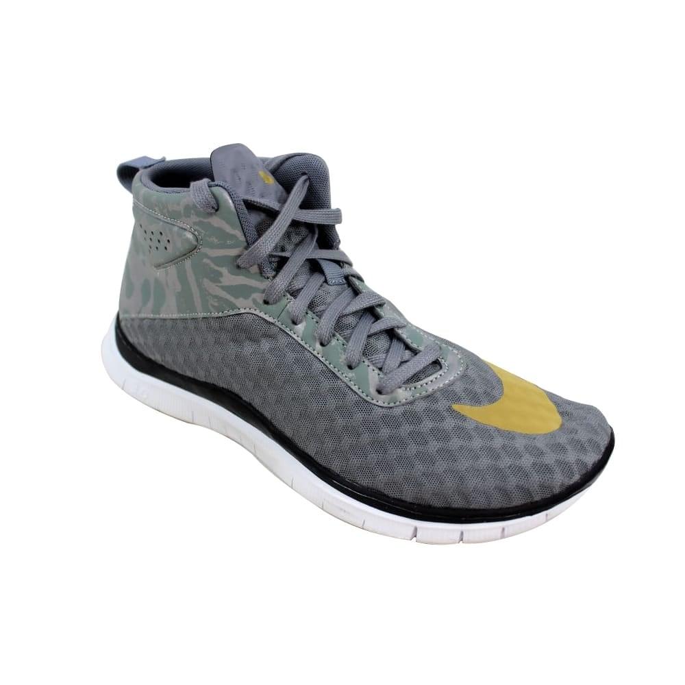 reputable site 4b4a1 1b816 Nike Men's Free Hypervenom Mid FC Cool Grey/Gold-White-Black 725128-001  Size 8.5