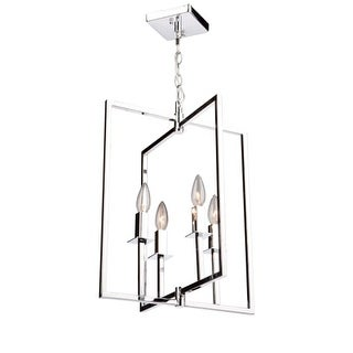 """Artcraft Lighting AC10720 Allston 4 Light 15"""" Wide Chandelier