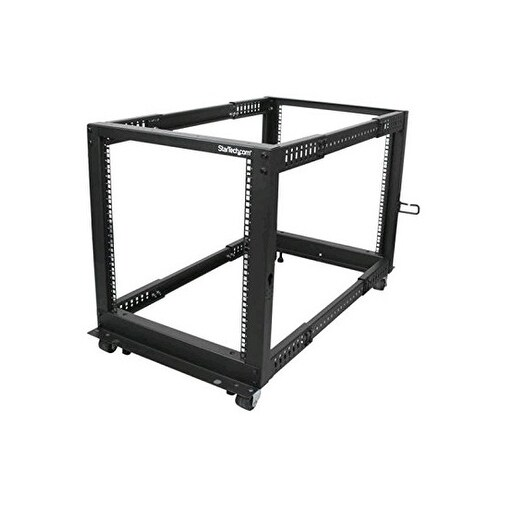 Startech 4Postrack12u 12U Adjustable Depth Open Frame 4 Post Server Rack