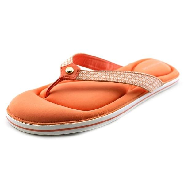 Tommy Hilfiger Sevilla Women Open Toe Canvas Orange Flip Flop Sandal