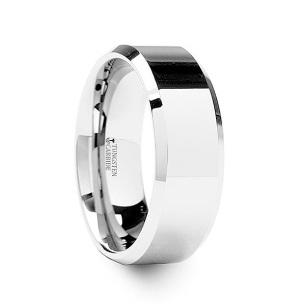 CORINTHIAN Beveled Tungsten Ring - Silver