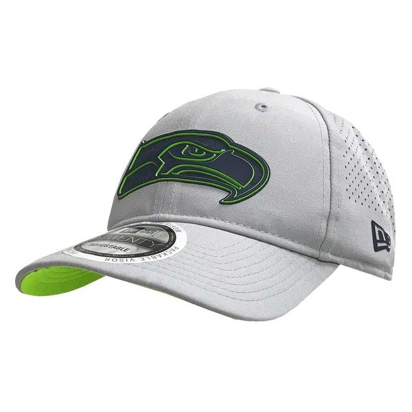 63621e7b81ea6 Shop New Era NFL Seattle SeaHawks Baseball Hat Cap Training 920 9Twenty  Gray 11766508 - Free Shipping On Orders Over  45 - Overstock - 22108185