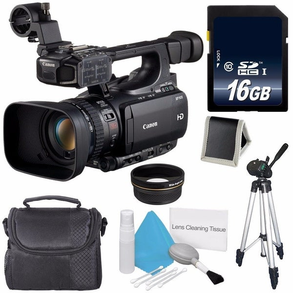 Canon XF105 HD Professional Camcorder 4885B001 International Model 58mm Wide Angle Lenses Bundle