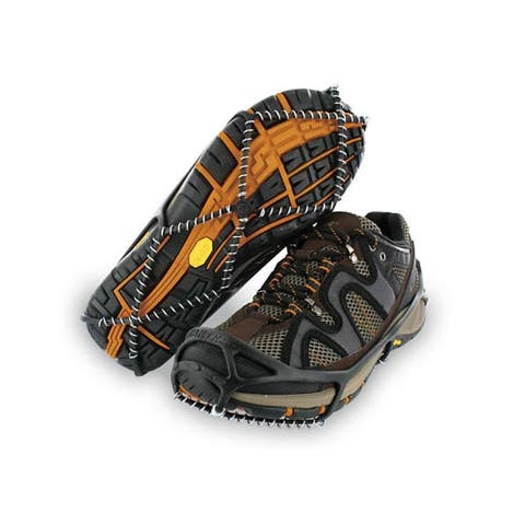 Yaktrax Walk 08605 Winter Shoe Traction Cleats for Snow & Ice, Black, Large