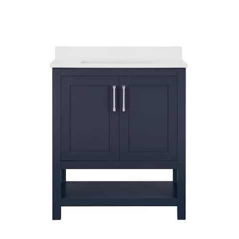 Ove Decors Vegas 30 in. Single Sink Bathroom Vanity in Midnight Blue