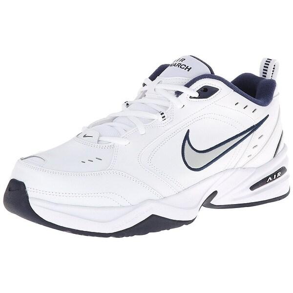 Nike Men's Air Monarch IV (4E) White/Mtllc Silver/Mdnght Nvy Training Shoe 9 4E Men US