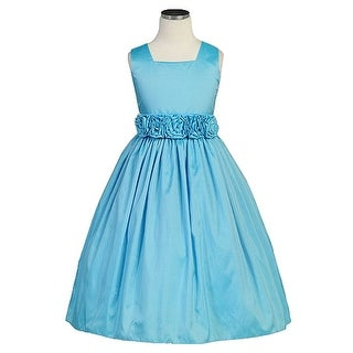 Sweet Kids Turquoise Taffeta Special Occasion Flower Girl Dress 6M-12
