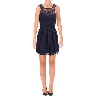 BCX Womens Juniors Casual Dress Lace Sleeveless - 13