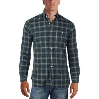 Polo Ralph Lauren Mens Button-Down Shirt Cotton Plaid - S