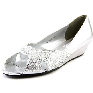 Touch Ups Alice Women Open Toe Synthetic Silver Wedge Heel