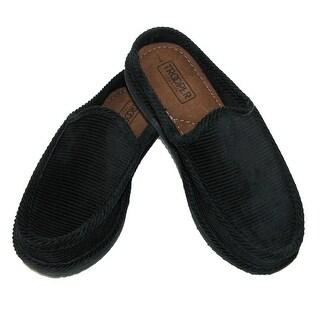 Trooper America Men's Corduroy Mule Slide Slippers - Black
