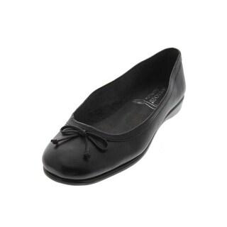 Aerosoles Womens Teashop Leather Bow Top Ballet Flats