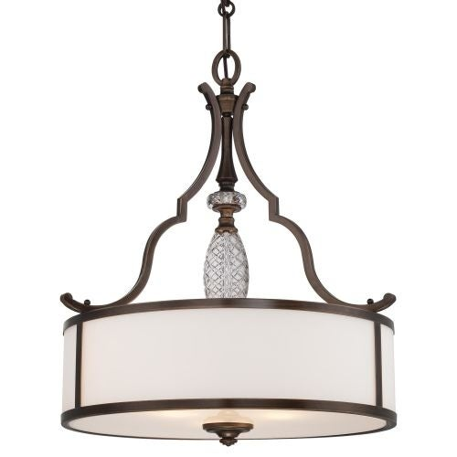 Minka Lavery 4944-570 3 Light Indoor Drum Pendant from the Thorndale Collection