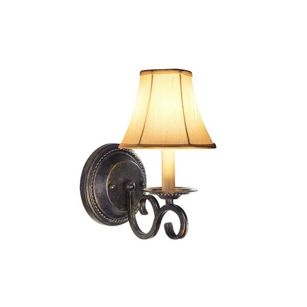 "Woodbridge Lighting 42001 Calais Single 6-1/4"" Wide Candle Style Wall Sconce - burnish bronze"