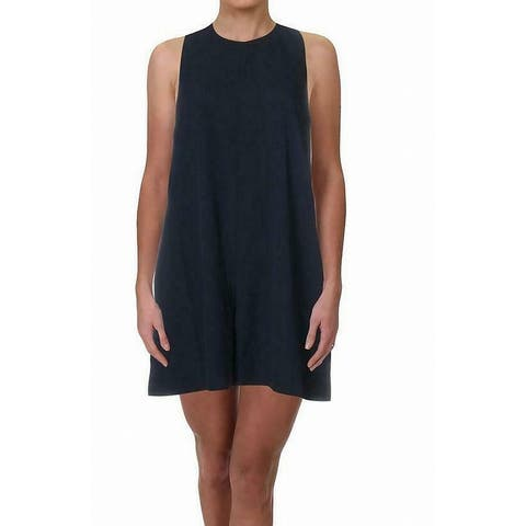 French Connection Women's Romper Midnight Blue Size 6 Crepe Sleeveless