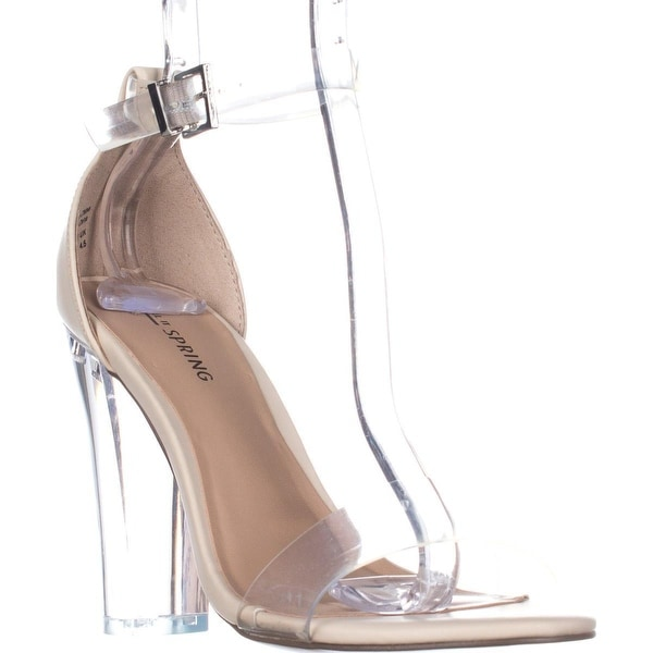 Call It Spring Capraia Ankle Strap Dress Sandals, Bone