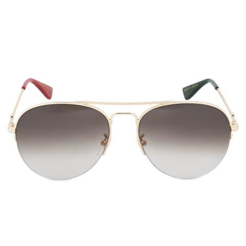 1f2e41b74d053 Gucci GG0107S 007 56 Aviator Sunglasses