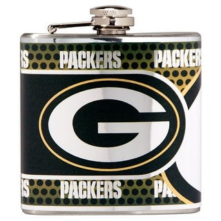 Great American Products Green Bay Packers Flask Stainless Steel 6 oz. Flask