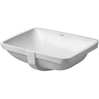 """Duravit 305490000 Starck 3 Ceramic 20-7/8"""" Undermount Bathroom Sink with Overflow"""