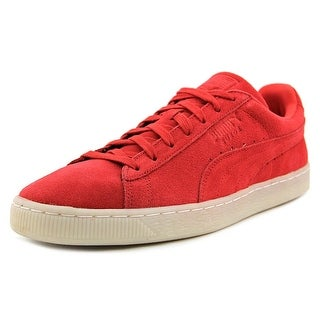 Puma Suede Classic Colored Men  Round Toe Leather Red Sneakers