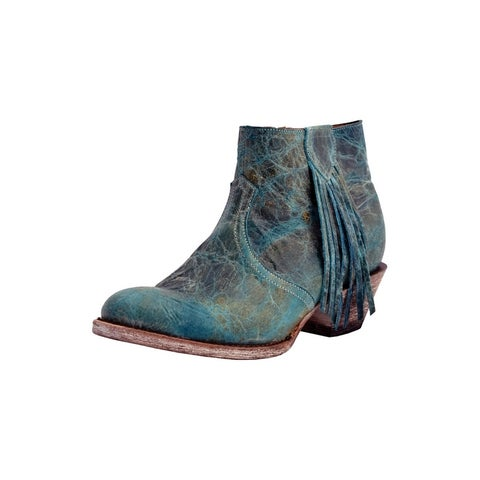 Ferrini Western Boots Womens Cowboy Heel Ankle Turquoise