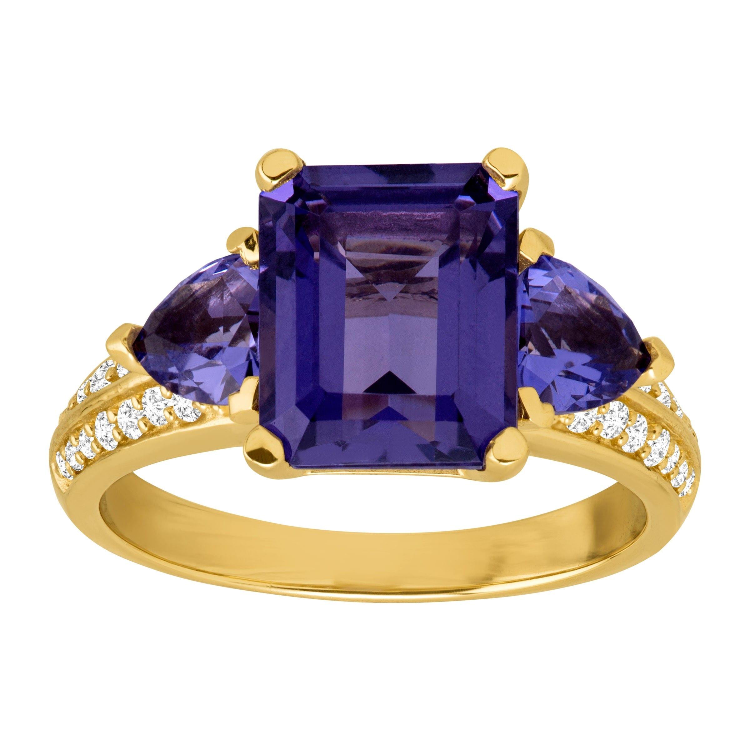 Sterling Silver 6.25-mm Purple//Blue Ice Cubic Zirconia Stud Earrings