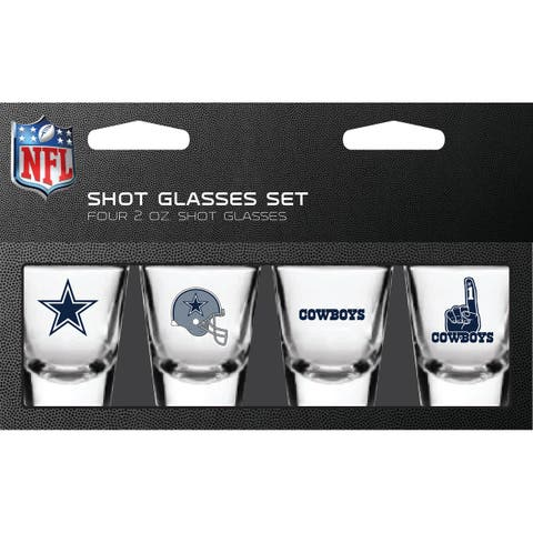 Dallas Cowboys Shot Glass 2oz 4 Pack