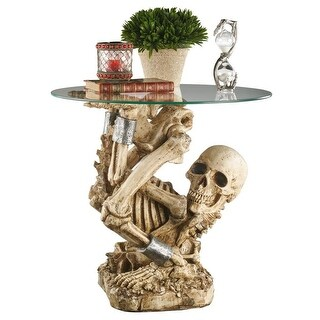 Design Toscano The Contortionist Skeleton Side Table