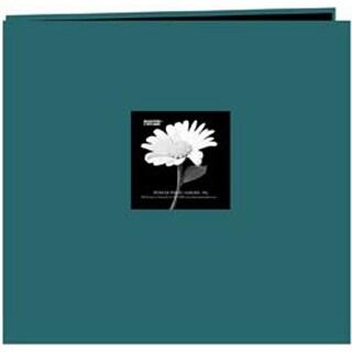 "Majestic Teal - Fabric Frame Post Bound Scrapbook 12""X12"""
