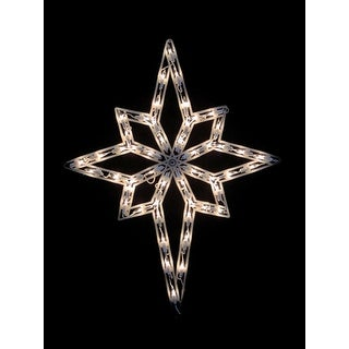 """18"""" Lighted Star of Bethlehem Double Sided Christmas Window Silhouette Decoration"""