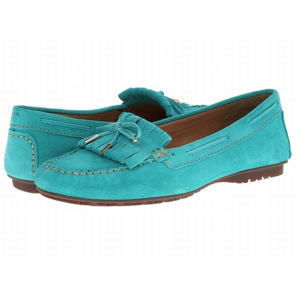 Sebago NEW Blue Turquoise Shoes Size 5.5M Moccasins Suede Flats