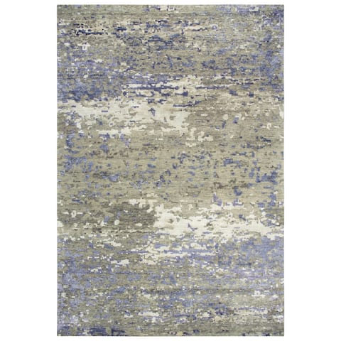 Alora Decor Noble Collection Grey Abstract Rug