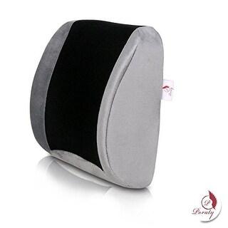 Orthopedic Memory Foam Lumbar Lower Back Cushion Pillow - For Lower Back Pain. NeverFlat Memory Foam, CoolTec Mesh Fabric