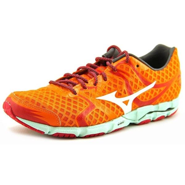 Mizuno Wave Hitogami Women Round Toe Synthetic Orange Running Shoe