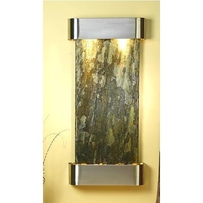 Adagio Cascade Springs Wall Fountain Green Solid Slate