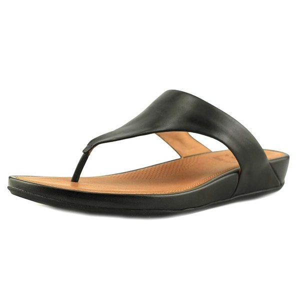 aec8f7b0bff7 Shop FitFlop Banda Women Open Toe Leather Black Thong Sandal - Free ...