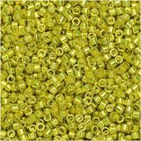 Miyuki Delica Seed Beads, 11/0 Size, 7.2 Gram Tube, 424 Galvanized Dark Yellow Dyed