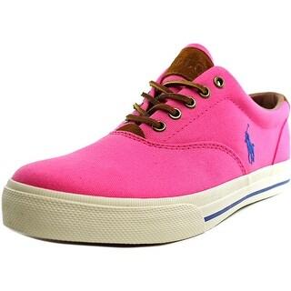 Polo Ralph Lauren Vaughn Men Round Toe Canvas Pink Sneakers