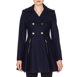 Laundry By Shelli Segal Pea Coat with Flare Skirt