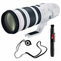 Canon EF 200-400mm f/4L IS USM Lens (International Model) + Lens Cap Keeper Bundle (AF6CAN200400LUSMB6)