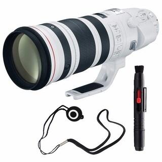 Canon EF 200-400mm f/4L IS USM Lens (International Model) + Lens Cap Keeper Bundle (AF6CAN200400LUSMB6)