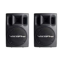 VocoPro PV802 Professional Stereo 400W Powered Vocal Speakers